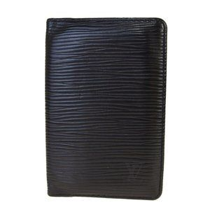Louis Vuitton Epi Leather Card Wallet Black